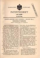 Original Patentschrift - J. Cockerill In Seraing , 1902 , Zylinder Für Dampfmaschinen !!! - Machines