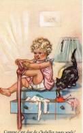 Cpa, Germaine Bouret, Comme C´est Dur De S´habiller Toute Seule  (13.50) - Neonati