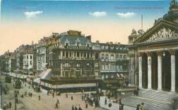 BRUXELLES - Boulevard Anspach Et La Bourse (N. Sch. Br. Ed.)) - Lanen, Boulevards