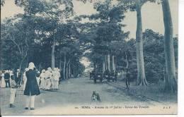 CONGO - BOMA - Avenue Du 1er Juillet - Revue Des Troupes - Congo - Brazzaville