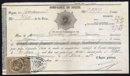LOT 3  DOCUMENTS COMPTABLES AVEC TIMBRES FISCAUX DIFFERENTS- 1882- 1889- 1877 - Bills Of Exchange