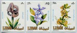 Liban 1984   -   Y&T N° 295/297 **   Fleurs - Other