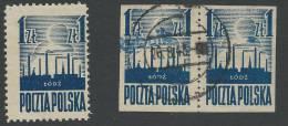 15.03.1945.       LIBERATION OF LÓDŻ. USED IMPERFORATED  AND  1 ZŁ. UNUSED. - 1944-.... République