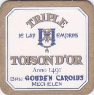 SOUS BOCK TOISON D'OR MECHELEN - Sous-bocks