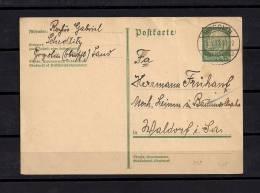 ALEMANIA 1933, ENTERO POSTAL CIRCULADO, GOGOLIN - WALDORF - Allemagne