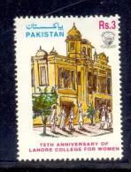 1997 PAKISTAN 75TH ANNIVERSARY OF LAHORE COLLEGE FOR WOMEN UMM. - Pakistan
