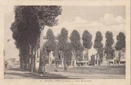 94 SUCY En BRIE  Place De La GARE COMMERCES Hommes Sur La Pelouse Arbres Beaux Peupliers - Sucy En Brie