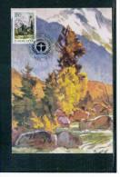 Jugoslawien / Yugoslavia 1987 Naturschutz / Nature Protection Maksimumkarte - Umweltschutz Und Klima