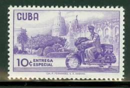Cuba Air & BOB:  Scott #E28 MNH Motorcycle Delivery Messenger - Cuba