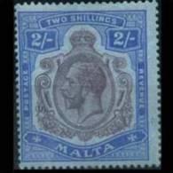MALTA 1921 - Scott# 72 King 2s LH (XA925) - Malta
