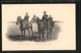 CPA Manoeuvres De L'Est 1901, Généraux De Négrier Et Lanes, Die Frz. Generäle Oscar De Négrier U. Lanes Bei E. Ma - Weltkrieg 1914-18