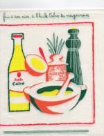 HUILE CALVE 2 SERVIETTES PUBLICITAIRES NEUVES Fais à Ton Aise, à L´huile Calvé Ta Mayonnaise - Tovaglioli Bar-caffè-ristoranti