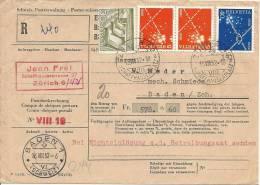1952 Postmandat Mit Interessanter Frankatur - Schweiz