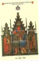 1998 - Sovrano Militare Ordine Di Malta BF 54 Quadro Di Pacino Di Duccio - Christianisme