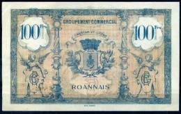 FRANCE BILLET DE VILLE 100F ROANNE - Bons & Nécessité
