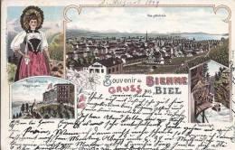 4930 - Souvenir De Bienne Litho Gruss Aus Biel En 1899 - BE Berne