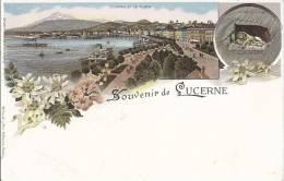 4937 - Souvenir De Lucerne Litho - LU Lucerne