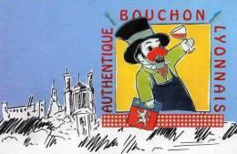 69 LYON Les Authentiques Bouchons Lyonnais, Illustrateur, Gnafron, Blason - Other