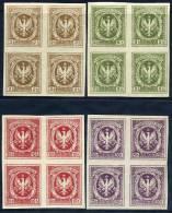 POLAND 1916 Polish Legion Imperforate Labels In Blocks Of 4 **/*. - Unused Stamps