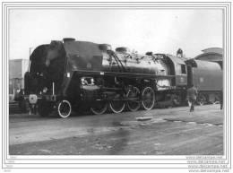PHOTO ORIGINALE LOCOMOTIVE à VAPEUR - 141R. 1187.  FUEL AU DEPART DE GRENOBLE - Spécial GRENOBLE - VEYNES  1974. - Trains