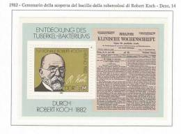 103484) 1982 - Centenario Della Scoperta Del Bacillo Della Tubercolosi Di Robert Koch - [6] Democratic Republic