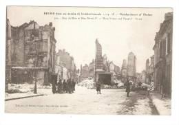 CPA-  51 - Marne - Reims : Bombardement De Reims :Rue De Mars , Rue Henri IV : Animation - Reims