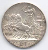 "REGNO D' ITALIA - Vittorio Emanuele III - 1 LIRA ""Quadriga Lenta"" (1913) Argento / Silver - 1861-1946 : Regno"