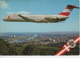 AUSTRIAN ARLINES DOUGLAS DC 9 JET FLUG  UBER WIEN   AUSTRIA  OHL - 1946-....: Moderne