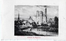 CHATEAU DE SAGONNE   DESSIN   CARTE DENTELEE - Otros Municipios