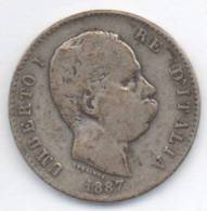 ITALIA 1 LIRA UMBERTO I 1887 AG - 1861-1946 : Regno