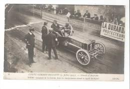 CPA 63 :  Rochefort En  Montagne  . Automobile : Coupe Gordon Benneti  Thery Vainqueur  Animation ,publicité Michelin - Cartes Postales
