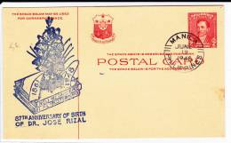 PHILIPPINES - 1948 - CARTE ENTIER POSTAL FDC - Philippines