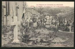 CPA Menil, Le Cimetiere, Au Premier Plan, Des Tombes D'officiers Francais - Guerra 1914-18