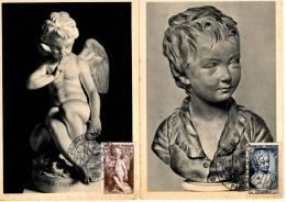 Journée Du Timbre Paris_10 Mars 1951_Croix Rouge N°876 Et 877 - Cartes-Maximum