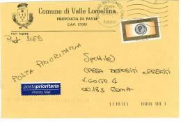 VALLE LOMELLINA  27020  PROV. PAVIA  - ANNO 2005 - LS  - STORIA POSTALE DEI COMUNI D´ITALIA - POSTAL HISTORY - Affrancature Meccaniche Rosse (EMA)