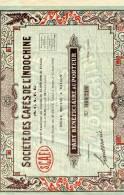 Cafés De L'INDOCHINE EN 1926 - Asie