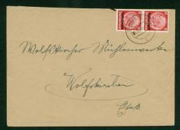Germany  - Lothringen 1940 - Cover Saargemund To Wolfskirchen - Occupation 1938-45