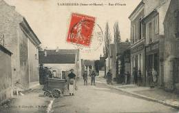 Varreddes Rue D' Orxois Attelage Boulangerie Boulangère Avec Baguettes Bois - Autres Communes