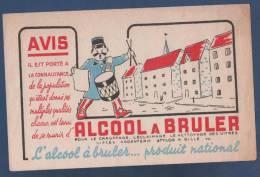 BUVARD ALCOOL A BRULER PRODUIT NATIONAL - GARDE CHAMPETRE AVEC TAMBOUR - Gas, Garage, Oil