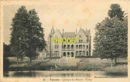 Cpa 41 Vouzon, Chateau Des Rhuets, L'Etang, Hommes En Barque - France