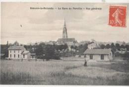 CPA 45 BEAUNE LA ROLANDE La Gare Du Chemin De Fer De Parville Vue Générale 1909 - Beaune-la-Rolande