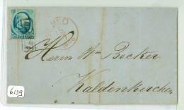 HANDGESCHREVEN BRIEF NVPH Nr. 4 FRANCO Uit 1866 Van VENLO Naar KALDENKIRCHEN DUITSLAND (6139) - Periode 1852-1890 (Willem III)