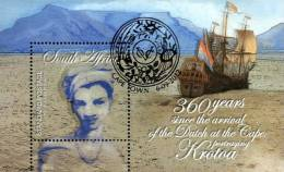 South Africa - 2012 360 Years Arrival Of Dutch In Cape Krotoa MS (o) - Zuid-Afrika (1961-...)