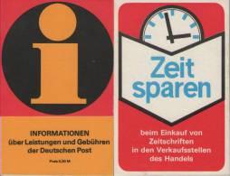 DDR    Postgebührenheft  Nachauflage 1981 - [6] République Démocratique