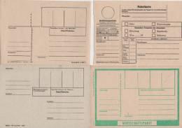 DDR   Wirtschaftspaket, Paketkarte,  Paket/Päckchen, Rückzahlungsschein - [6] République Démocratique