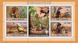 SAO TOME & PRINCIPE 2007 - Dinosaurs, Scouting - Mi 3020-3, YT 2246-9 - Prehistorisch