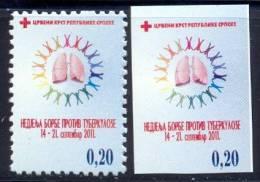 BHRS 2011-ZZ29 RED CROS T B C, BOSNA AND HERZEGOVINA-R.SRBSKA, 1 X 2v, MNH - Red Cross