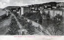 """Bellissima Cartolina D´epoca  """" San Remo - La Promenada  """" - Imperia"""