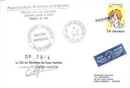8950  MARION DUFRESNE - OP 79-4 - KERGUELEN PAQUEBOT - Lettres & Documents