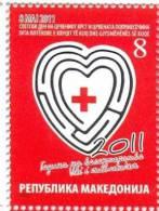 MK 2011-ZZ157 RED CROSS, MACEDONIA, 1 X 1v, MNH - Red Cross